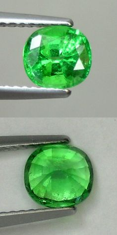 Tsavorite 110809: 1.22 Ct. Massive Inclusion - Natural Tsavorite - Green Garnet Cushion # 549 BUY IT NOW ONLY: $84.99