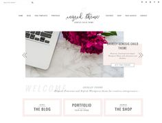 Portfolio eCommerce Genesis theme In by Lovely Confetti on @creativemarket