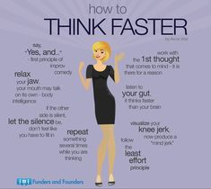 How to Think Faster from How to Have a Simple Life as an Entrepreneur Infographic Self Development, Personal Development, Leadership, Vie Motivation, Sales Motivation, Business Motivation, Think Fast, Psychology Facts, Life Skills
