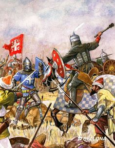 A descriptive look at the 1389 Battle of Kosovo between Serbia and the Ottoman Empire Medieval World, Medieval Knight, Military Art, Military History, Battle Of Kosovo, Warrior Paint, Late Middle Ages, Knight Armor, Historical Art