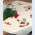 Rooster - theenap - voorgedrukt handwerkpakket - Vervaco