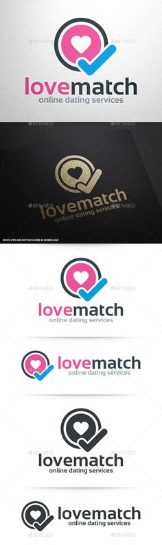 The Love Match Logo TemplateA modern and professional vector logo for love and dating related business! All elements can be resized without any loss of quality. Easily change colors and text to your needs. This stocklogo will look great on both print and web. If you need an editable Photoshop file of this logo please contact me after the purchase
