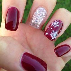 Gorgeous christmas nails ideas 100