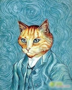 The cat replace the people of the World famous painting #14_Vincent van goghi | Art, Art from Dealers & Resellers, Other Art from Resellers | eBay!
