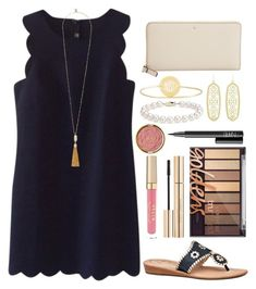 """""""•Whenever You Feel Unloved, Unimportant, Or Insecure, Remember Whom You Belong•Ephesians 2:19-22•"""" by twaayy ❤ liked on Polyvore featuring J.Crew, Kendra Scott, Jack Rogers, Vince Camuto, Kate Spade, Sarah Chloe, Blue Nile, Dolce&Gabbana, Stila and Milani"""
