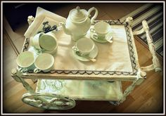serving table - my shabby white home