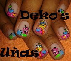 Uñas jirafa Animal Nail Designs, Nail Manicure, Nails, Hair Beauty, Nail Art, Triangles, Nail Ideas, Characters, Fancy