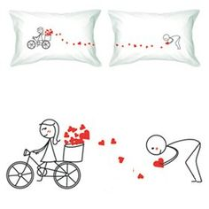"""Amazon.com: BoldLoft """"All My Love for You"""" Couple Pillowcases-Cute Valentines Gifts,Valentines Pillowcases,Valentines Day Romantic Gifts,Unique Valentines Day Gifts: Home & Kitchen"""