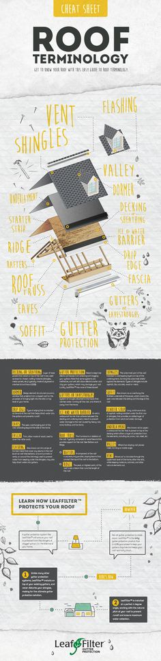 Roof Terminology Cheat Sheet infographic | LeafFilter North, LLC