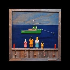 """Lukey's Boat""  Wooden Wall Art  by Ben Ploughman"