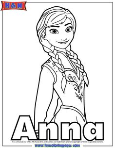 Princess Anna Of Arendelle Coloring Page