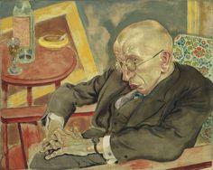 The Poet Max Herrmann-Neisse. GROSZ, George (American (born Germany), Berlin 1893–1959 Berlin). 1927. Oil on canvas. 59.4 x 74 cm. Museum of Modern Art, New York.