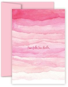 Welcome that new little bundle of joy with this ultra-feminine and dainty baby girl card. New frills can only mean one thing . new thrills! Watercolor Christmas Cards, Diy Christmas Cards, Watercolor Cards, Watercolor Paintings, Easy Watercolor, Simple Christmas, Christmas Tree, Watercolour, Watercolor Splatter