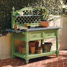 Search Results for caroline potting bench - Frontgate from May 2014 Catalog.