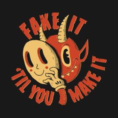 Shop Fake It 'Til You Make It demon t-shirts designed by DinoMike as well as other demon merchandise at TeePublic. Vintage Cartoon, Cartoon Art, Red Aesthetic, Aesthetic Pictures, Desenhos Halloween, Posca Art, Arte Obscura, Photocollage, Hippie Art