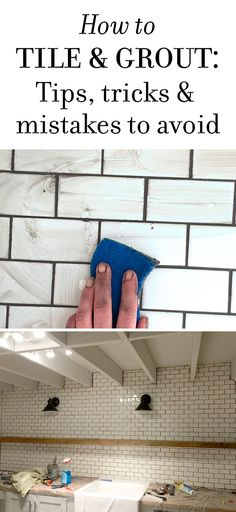 New Laundry Room: Subway Tile & Grout - Tips & Tricks