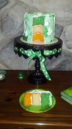 Irish Flag Cake- great for St. Patty's Day
