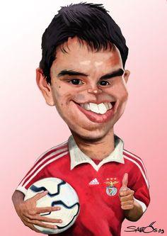 Caricatura de Javier Saviola #futboldibujos