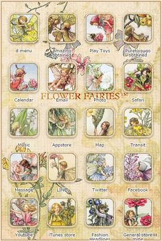 Flower Fairies Screen Themes for iPhone from Kisekae in Japan