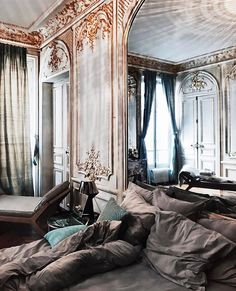 architecture, chic, and design image My New Room, My Room, Home Bedroom, Bedroom Decor, Bedrooms, Bedroom Apartment, Victorian Bedroom, Song Of Style, Home Fashion