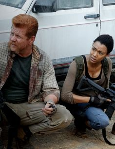 "The Walking Dead Season 6 Episode 6 ""Always Accountable"" Sgt. Abraham Ford and Sasha"
