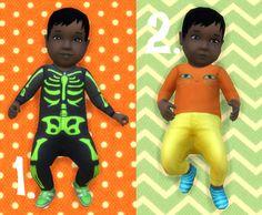 Baby Overrides: Set 5 Dark Skin/Boy + Long Hair at Budgie2budgie via Sims 4 Updates