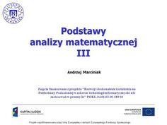 Podstawy analizy matematycznej III>