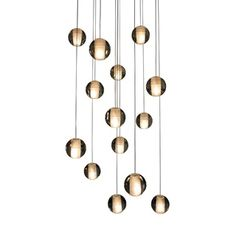 14-Light Glass Globe Bubble Pendant Chandelier - Overstock™ Shopping - Great Deals on Chandeliers & Pendants