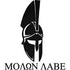 Molon Labe Sticker Spartan Helmet Die Cut Vinyl Decal Amendment x Molon Labe Decal, Molon Labe Tattoo, Spartan Warrior, Spartan Helmet, Sparta Tattoo, Tatoo 3d, Tattoo Art, Greek Helmet, Helmet Logo