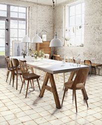Loft industriel dans un style scandinave / Industrial loft in a Scandinavian style Rustic Dining, Shabby Chic Interiors, Dining Room Design, Dining Room Industrial, Interior, Interior Spaces, Home Decor, Dining Table, Home Deco