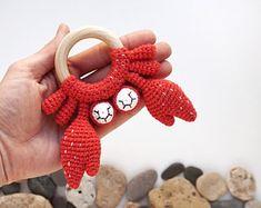 Crochet Turtle, Crochet Bear, Crochet Animals, Kawaii Crochet, Fish Patterns, Crochet Patterns Amigurumi, Baby Patterns, Knitting Patterns, Baby Rattle