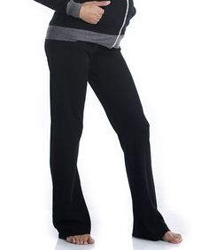 Take a look at this Black Maternity Lounge Pants by Lilac Maternity on #zulily today!