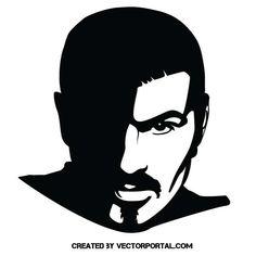 George Michael Vector Portrait