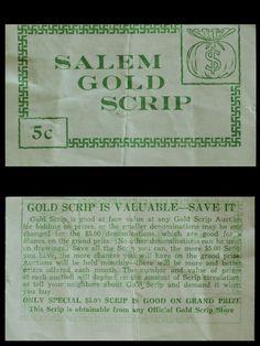 Scrip, Salem, Oregon, ca. 1933