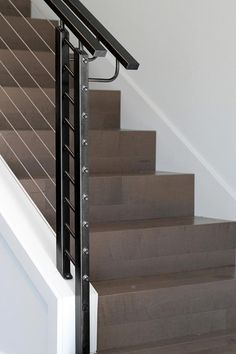 Cable railing systems for staircases, fences or handrails