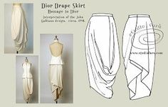 Pattern Puzzle - Dior Draped Skirt