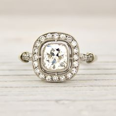 I'm not actually much for diamonds, but this one is gorgeous.  Antique diamonds and platinum; vintage design.