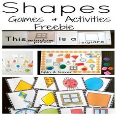 4 Free Activities for Learning Shapes - Life Over Cs 2d Shapes Activities, Teaching Shapes, Free Activities, Teaching Ideas, 2d And 3d Shapes, Free Shapes, Kindergarten Activities, Preschool Activities, Preschool Shapes