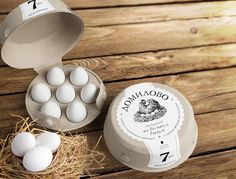 "Domilovo from Getbrand is ""a henroost"" made of rough pressed cardboard — new shape which stirs pleasant emotions and enriches brand communication - a pure fresh farm product."