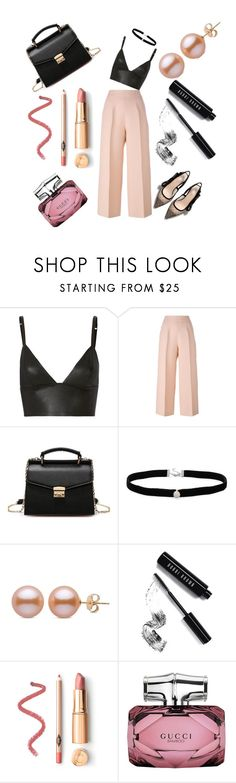 """evening outfit 2017"" by hosseini-razie ❤ liked on Polyvore featuring T By Alexander Wang, Fendi, Amanda Rose Collection, Bobbi Brown Cosmetics and Gucci"