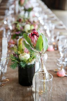 Proteas and fynbos at Gondwana Game Reserve Got Married, Getting Married, Game Reserve, Floral Design, Wedding Day, Table Decorations, Beautiful, Ideas, Pi Day Wedding