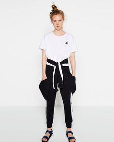 Image 1 of FRUIT APPLIQUÉ T-SHIRT from Zara