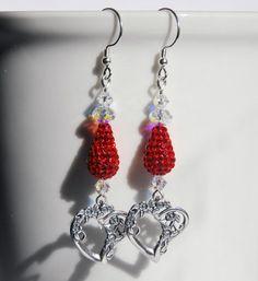 Romantic Handmade Jewelry  https://www.etsy.com/listing/264816228/czech-crystal-pave-earrings-red-earrings