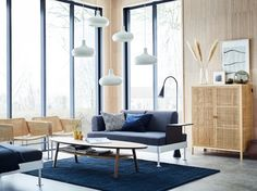 Browse our living room design ideas to help you get inspired. Our living room design gallery highlights inspirational living rooms in a variety of styles featuring IKEA products. Modern Living Room Table, Living Room Plan, Ikea Living Room, Classic Living Room, Living Room Grey, Living Room Designs, Living Spaces, Living Room Furniture Inspiration, Furniture Ideas