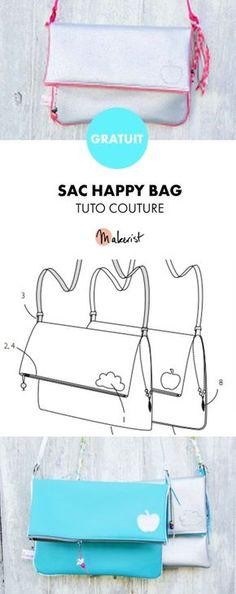 Tuto couture gratuit ! Retrouvez ce joli sac à coudre sur Makerist.fr