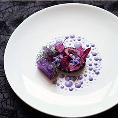 Octopus with amaranth and purple cabbage jelly & mayo by @lvin1stbite #TheArtOfPlating