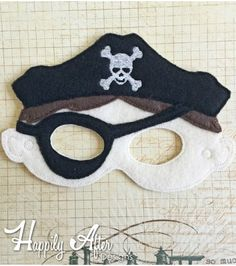 Pirate Boy Mask ITH Embroidery Design Felt Mask Embroidery Designs