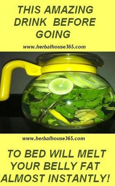 THIS AMAZING DRINK BEFORE GOING TO BED WILL MELT YOUR BELLY FAT ALMOST INSTANTLY!