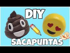 MANUALIDADES FACILES:HAZ UN SACAPUNTAS DE EMOJI CAQUITA - YouTube