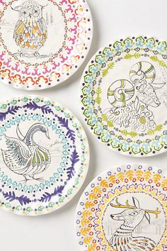 Forest fable Dessert plate Anthrpologie Pinned by www.myowlbarn.com